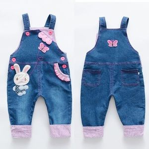 Other - 🆕 Girls Cute Bunny 🐰 Overalls